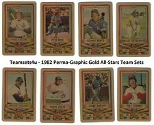 1982 Perma-Graphic Gold All-Stars Credit Cards Baseball Set ** Pick Your Team **