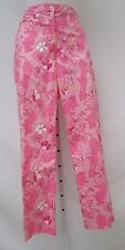 AUTH Women's LILLY PULITZER Pink Lion Floral Cropped Ankle Pants 8