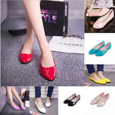New Women Basic Round Toe Ballerina Ballet Dolly Pumps Lady Flats Loafers Shoes
