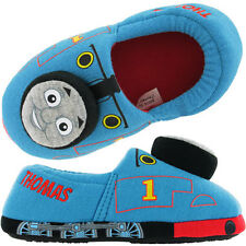 Thomas The Tank Engine Whistle Boys 3D Slippers - Blue (Size 4/5,6/7,8/9,10/11)