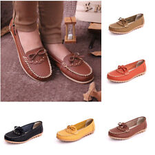 Womens Oxfords Shoes Leather Ballet Loafers Moccasins Comfortable Flats Casual