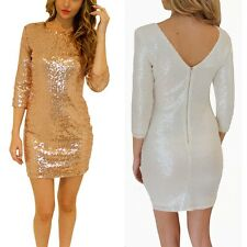 Prom Evening Gown Party Bodycon Women Sequins Dress Bridesmaid Mini Dress Q23