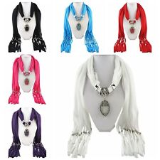 Fashion DIY Necklace Jewelry Scarf Drops pendant set Charms Scarves Women