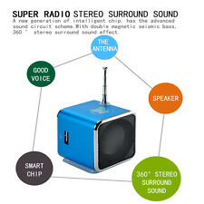 New Mini SD TF USB Stereo Speaker Music Player FM Radio PC MP3 /4 3W Gifts
