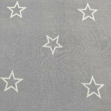 "Denim Blue w/ Light Blue Star Cotton Clothing Drapery Fabric By The Yard 54""W"