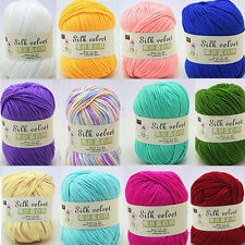 Super Soft Natural Smooth Cotton Silk Hand-knitting Wool Cashmere Crochet Skein