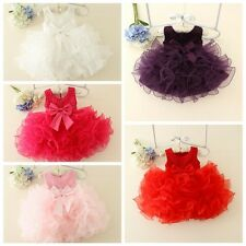 Baby Flower  Girl Layers Princess Dress Wedding Bridesmaid Party Tutu Dress