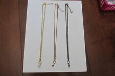 "18"" TO 20"" CUSTOM ROLO CHAIN - GOLD, ROSE GOLD, BLACK  ORIGAMI OWL STYLE"