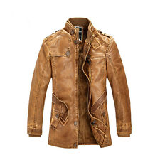 Men's Genuine Lambskin Leather JOOBOX JACKET Flight Coat Motorcycle Biker Lined