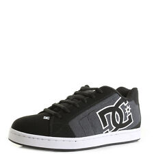 DC Shoes NET SC Black Dark Used Low Top Skate Trainers UK Size