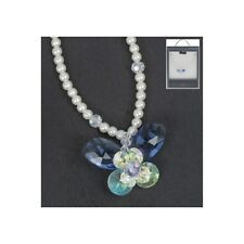 Equilibrium Pearl Crystal Necklace Platinum Plated - 2 Designs