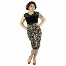 Women's Hemet Vintage Inspired Two Tone Top Black Rockabilly Retro Pin Up
