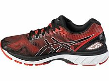 Asics Gel-Nimbus 19 Mens Running Shoes Black Red Silver T700N-9023