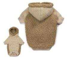 TEDDY BEAR FLEECE DOG HOODIE Cuddly Quilted Sweater Zack & Zoey Puppy Pullover