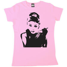 AUDREY HEPBURN CLASSIC ICONIC PRINT WOMENS BREAKFAST AT TIFFANYS T-SHIRT