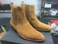 Chic Mens Suede Leather High Top Chelsea Flats Vintage Shoes Chukka Ankle Boots