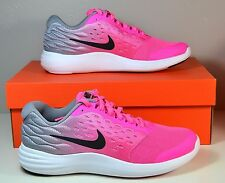 NWT GIRLS KIDS NIKE LUNARSTELOS GS PINK RUNNING SNEAKERS SHOES SZ 6Y