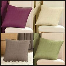 "Cassia Cushion Covers Woven Squares Pattern 17"" x 17"" One Pair Scatter"