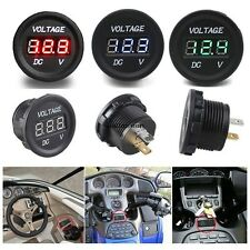 12V-24V Motorcycle LED Digital Display Voltmeter Socket Waterproof Meter WN