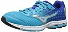 Mizuno Wave Rider 18 Junior Kids Running Shoe , Blue Atoll/Silver