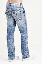 TRUE RELIGION STRAIGHT W/Flaps NATURAL BIG T Men Jeans NWT $271