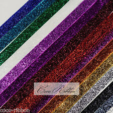 "10 Yards 5/8"" 16mm Sparkle Metallic Cheer Glitter Ribbon - 14 Colors"