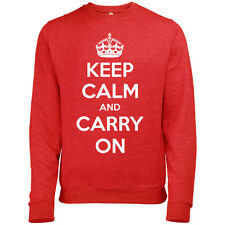 KEEP CALM AND CARRY ON CLASSIC MENS PRINTED SWEATSHIRT JUMPER