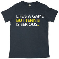 LIFES A GAME BUT TENNIS IS SERIOUS MENS WIMBLEDON GRAND SLAM T-SHIRT