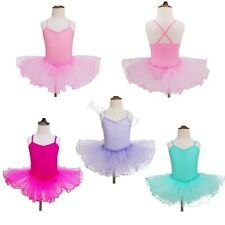 Toddler Kids Baby Girls Gymnastics Ballet Dress Long Sleeve Tutu Skirt Leotard