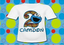 Personalized Sesame Street Cookie Monster T Shirt Birthday T shirt All Sizes