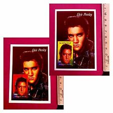 King of Rock and Roll Elvis Presley portrait stamps Souvenir Sheet GIFT UKpost