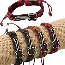 Bracelets PU Leather Antique Chain Rope Jewelry Bangles Guitar Bracelets Charm