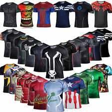Men Superhero Compression T Shirts Costume Cosplay Shirts Cycling Jersey Tops