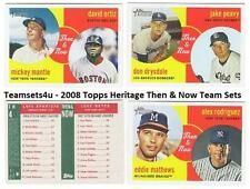 2008 Topps Heritage Then & Now Baseball Set ** Pick your Team **