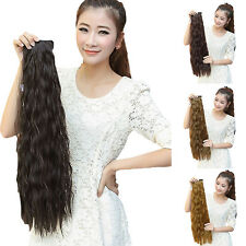 Hot Fashion Women Long Wavy Curly Ponytail Clip-in Horsetail Hair Extension Wigs