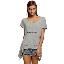 Women Fashion Loose Sexy Round Neck Batwing Sleeve Backless T Shirt Tops WN