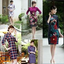 New Sexy MINI Dress Traditional Cheongsam Charming Fashion Chinese Women's Qipao