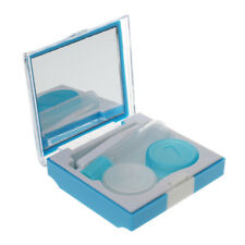 Portable Travel Kit Contact Lens Case Container Holder Mirror Soak Storage Box