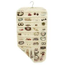 80 Pocket Jewelry Hanging Organizer Storage Holder Earring Bag Pouch Display /
