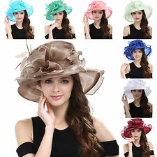 Women's Kentucky Derby Hat Church Hat Wedding Organza Dress Hat Tea Party Hat #3