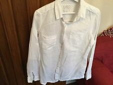 Marks and spencer white linen shirt size 10