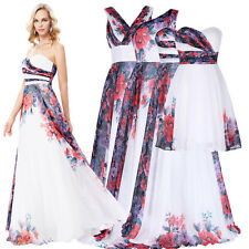 Floral Long Short Prom Evening Cocktail Dress Pageant Formal Party Bridesmaid #