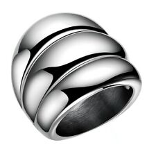 Men's Stainless Steel Finger Ring Jewelry Fancy Unique Wedding Party Gift