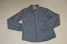 ABERCROMBIE & Fitch Muscle Mens Plaid Polo Long Sleeve Blue S/M - NWT $78