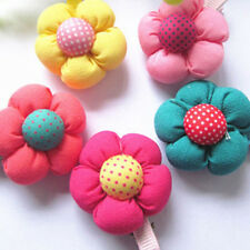 Vogue Flower Hair Clips Kids Candy Color Hairpins For Baby Girls Cute LY