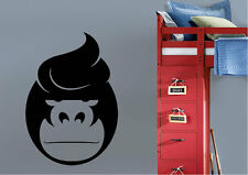 Nursery Wall Stickers Gorilla Face Vinyl Decal 15 Colours 02163