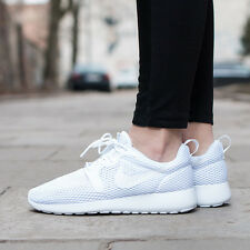 NIKE WOMEN'S ROSHE RUN HYPERFUSE BR WHITE PURE PLATINUM 833826-100 NEW