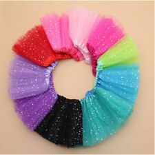 Princess Dressup Bling Sequin Tulle Tutu Skirt Party Costume Ballet Dancewear