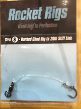 ROCKET RIGS CHOD RIGS, VARIOUS HOOK SIZES TIED TO 20lb STIFF LINK.
