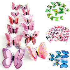3D Butterfly Design Decal Art Wall Stickers Room Decorations Home Decor 12pcs